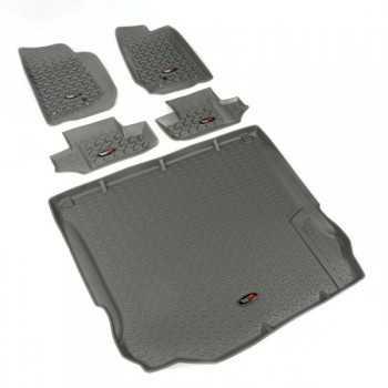 Jeu de tapis gris avant et arrière Jeep Wrangler JK 2007-2010 4 portes