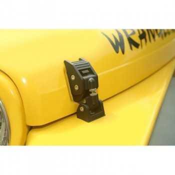 Attaches capot aluminium noir Jeep Wrangler TJ de1997 à 2006