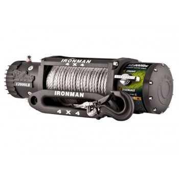 Treuil IRONMAN 5T4 12 volts avec corde plasma