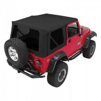Capotage de remplacement Crown Automotive noir Jeep Wrangler TJ 1997-2006
