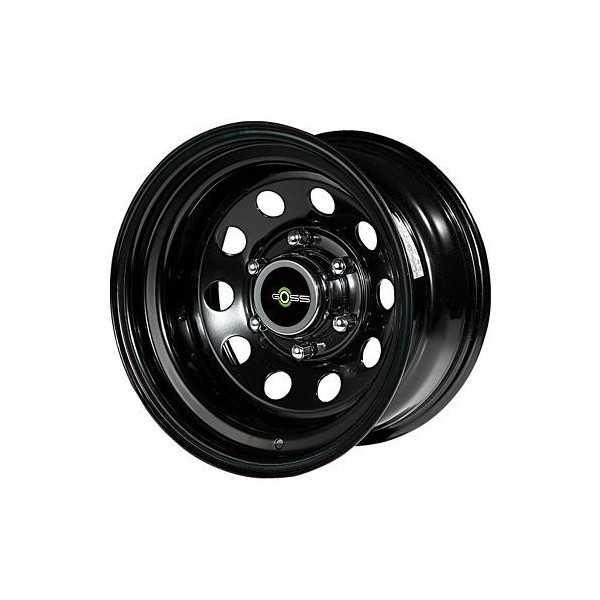 Jante acier modular noire 7X15 Cherokee XJ-KJ - G.Cherokee ZJ-ZG - Wrangler YJ-TJ