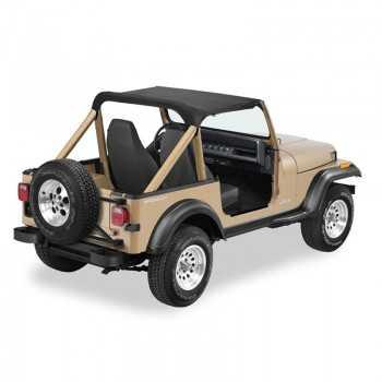 Bikini® Tops noir sans sangle Jeep Wrangler 86-91