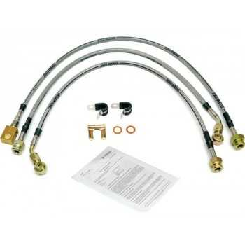 Kit de flexibles de frein acier inox JEEP CJ 79 - 86