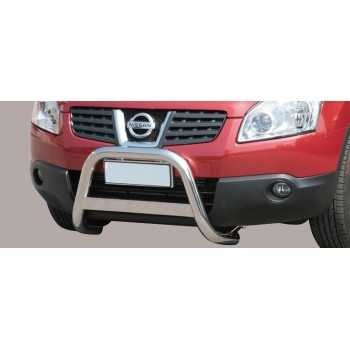 Medium bar inox 63 mm NISSAN QASHQAI 2007-2010 HOMOLOGUE CE
