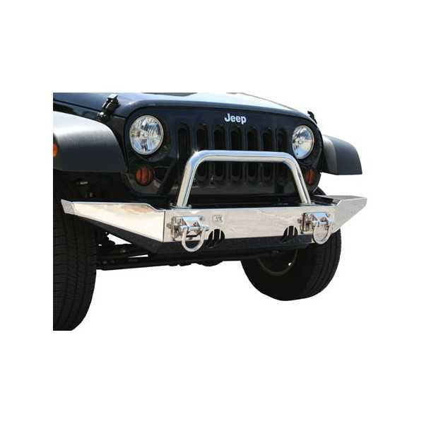 Pare choc avant central inox XHD Jeep Wrangler JK 2007-2018