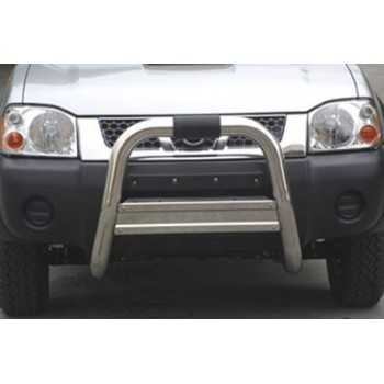 BIG BAR 76MM INOX Usage Hors Route NISSAN NAVARA  2002-2005