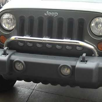 Support de phare inox sur pare chocs Jeep Wrangler JK 2007 à 2017