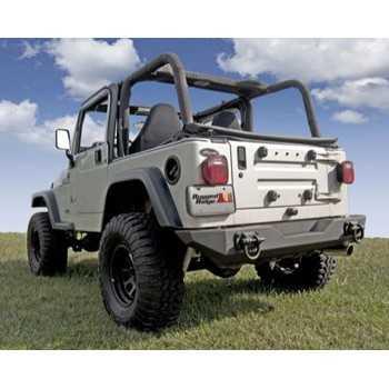 Pare chocs arrière noir XHD Jeep CJ, Wrangler YT ET TJ