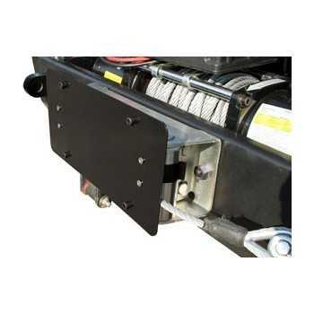 Support de plaque noir d'immatriculation pour guide-câble à rouleaux