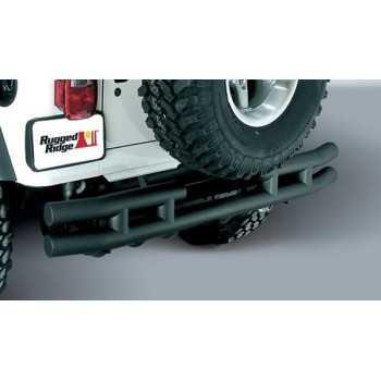 Pare chocs arrière noir mat Jeep Wrangler YJ ET TJ 1987 A 2006