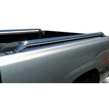 Barres de dessus de ridelles inox Toyota Hilux Extra cab