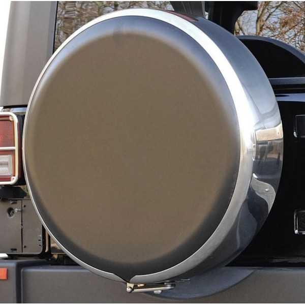 Couvre roue inox - 265-70R15 - Mitsubishi Pajero II, Hyundai Galloper
