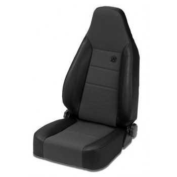 Siege TRAILMAX™ II sport tissu noir Jeep CJ & Wrangler, 76-06