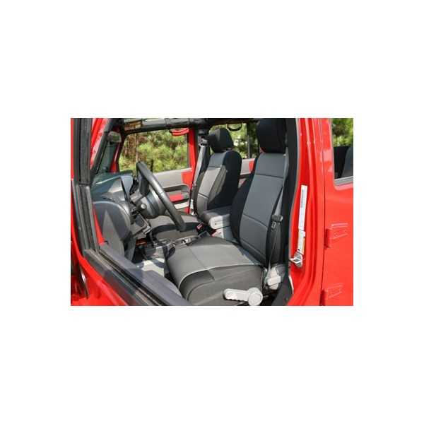 Housse de siege avant grise Jeep Wrangler JK 2007-2010 avec ou sans ABS