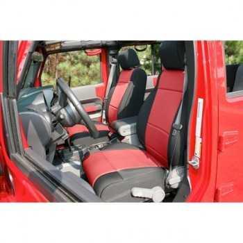 Housse de siège avant rouge Jeep Wrangler JK 2011-2018