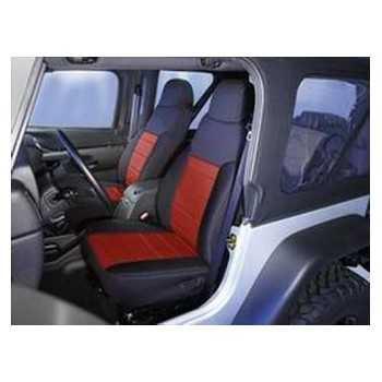 Housse de siege avant neoprene noir-rouge Jeep Wrangler TJ 1997-2002