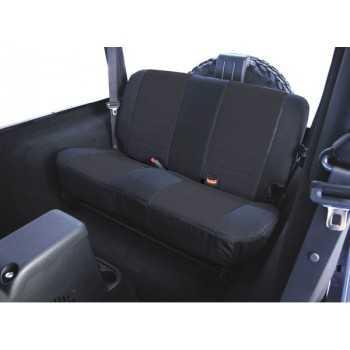 Housse de banquette arrière coton noir Jeep Wrangler TJ 1997-2002