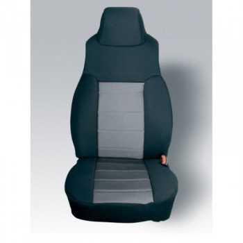 Housse de siège avant coton noir-gris Jeep Wrangler TJ 1997-2002