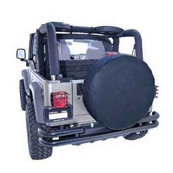 Housse de roue unie noire diamètre 70 cm