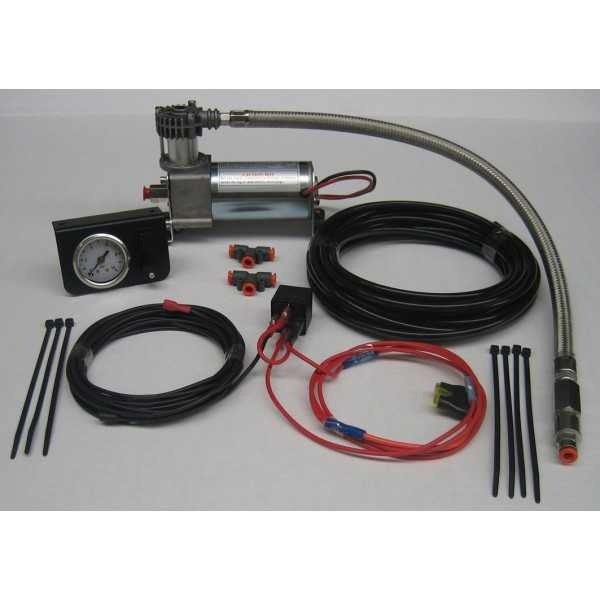 Compresseur MAD pour compensateur de charge simple manomètre 12 Volts