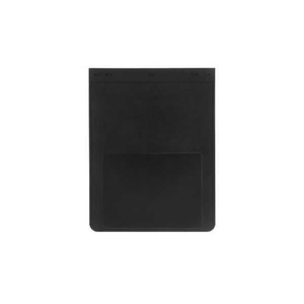 Bavette caoutchouc plain black 47X61 cm