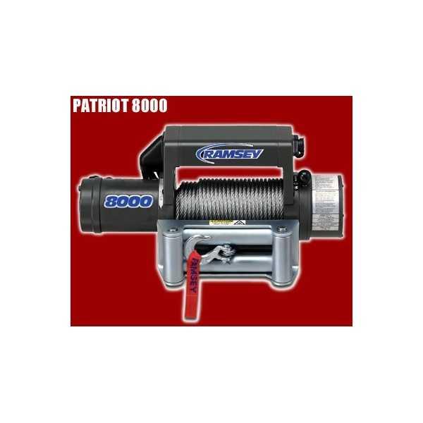 TREUIL PATRIOT 8000 12 Volts 3500 Kg - 5,5 ch