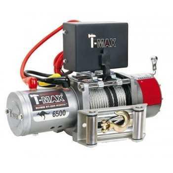 Treuil T-MAX EW 6500 2950 Kg 12 VOLTS Télécommande filaire de 3,7mètres