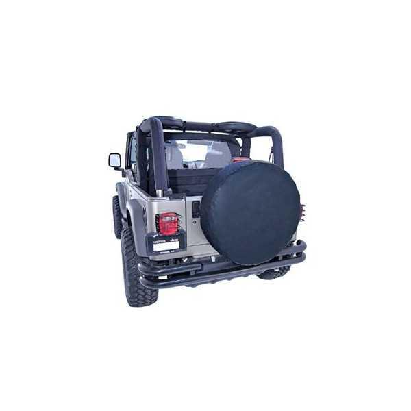 Housse de roue unie noire diametre 65 cm cash 4x4 - Housse de barre a roue ...