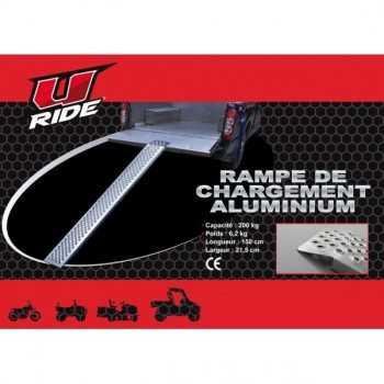 Rampe de chargement aluminium Dimensions (L x l) : 150 x 21,5 cm
