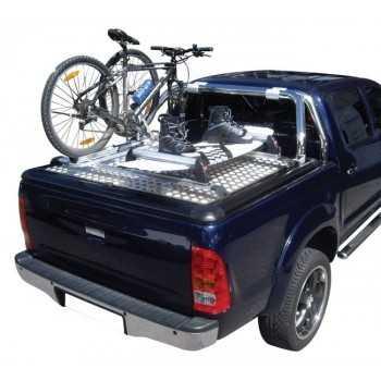 Porte vélo (fermeture a clé) 1 vélo tonneau cover aluminium Ford Ranger