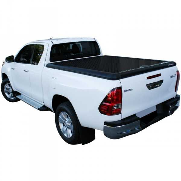 tonneau cover alu noir toyota hilux double cabine. Black Bedroom Furniture Sets. Home Design Ideas