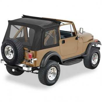 Capotage Pavement Ends Flip Top noir JEEP CJ & WRANGLER 76-95