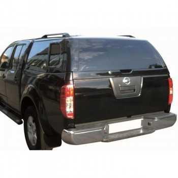 Hard top acier noir GNO Nissan Navara D40 2005-2015 4 portes longue benne