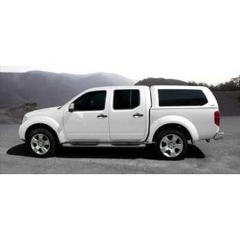 Hard top blanc a/vitres latérales Nissan Navara D40 4 portes