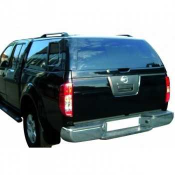 Hard top acier noir NAF Nissan Navara King Cab D40 2005-2015 2 portes 4 Places