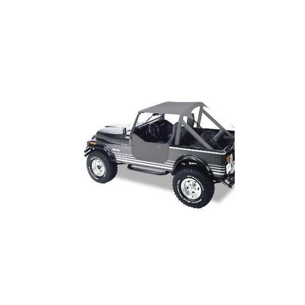 Bikini® Tops Bestop® gris Jeep CJ 7,76-86 CJ 8 Scrambler & Wrangler 1976-1991