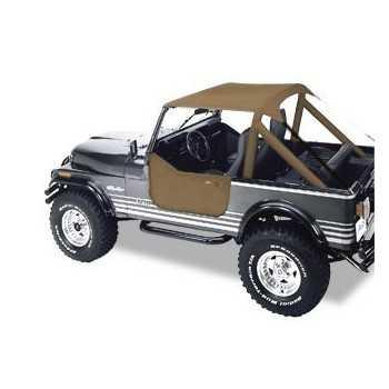 Bikini® Tops Bestop® brun Jeep CJ 7,76-86 CJ 8 Scrambler & Wrangler 1976-1991
