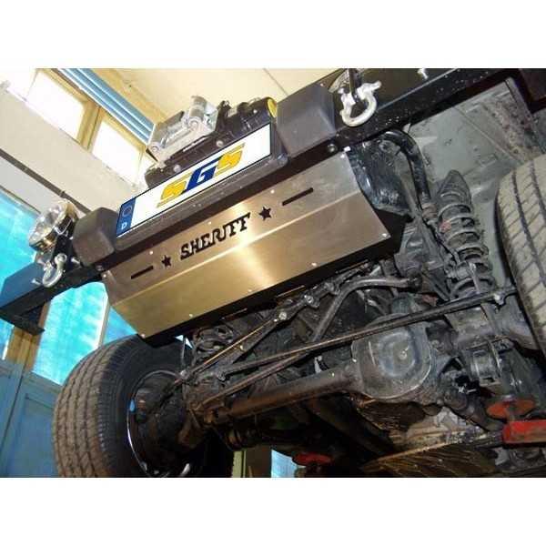 Blindage acier boitier de direction Jeep Wrangler TJ 08/1996-02/2006