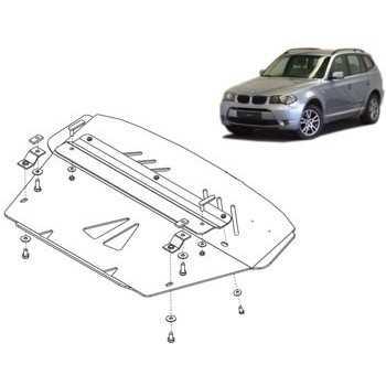 Blindage moteur aluminium BMW X3 2004-2010