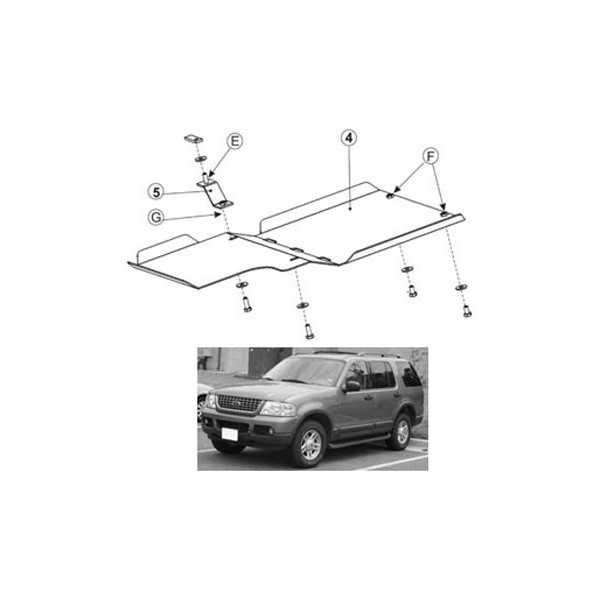 Blindage moteur acier Ford Explorer 2003-2005