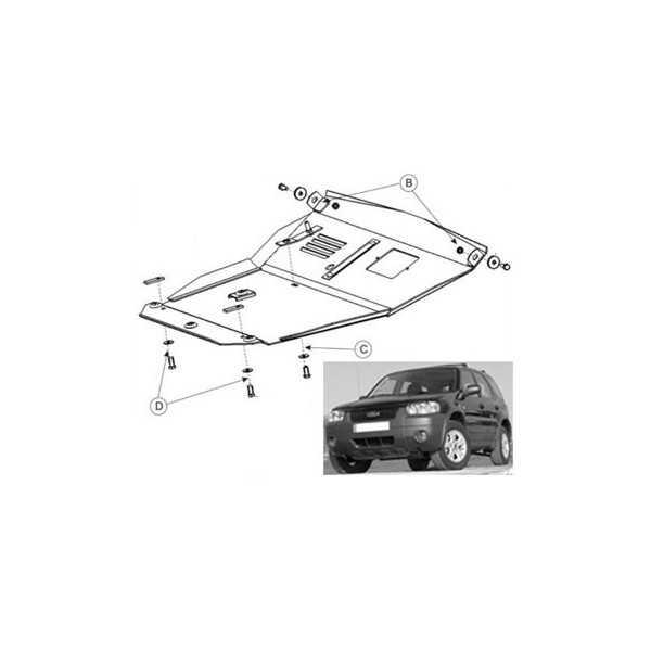Blindage moteur acier Ford Maverick 2001-2004
