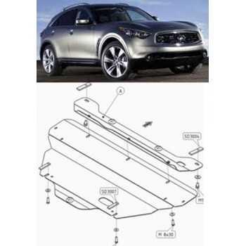 Blindage moteur aluminium INFINITI FX50 2007-
