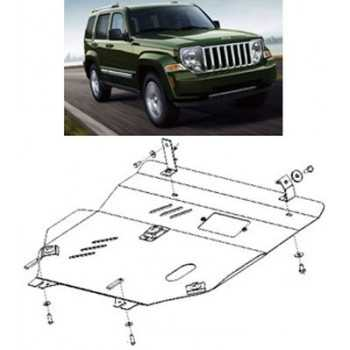Blindage moteur aluminium JEEP PATRIOT PK ET JEEP COMPASS 09-2006-