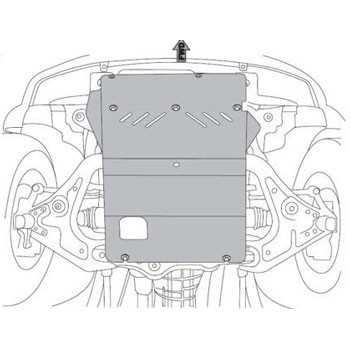 Blindage moteur aluminium MAZDA BT-50 2007-