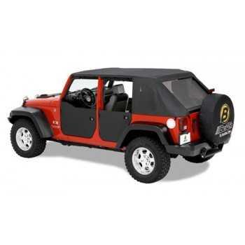 Jeu de demi-portes arrière Jeep Wrangler JK 4 Portes 2007-2018