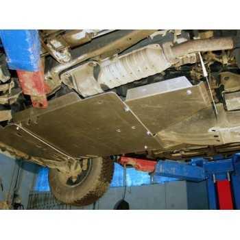 Blindage bv+bt aluminium Mitsubishi Pajero DID à partir de 2007