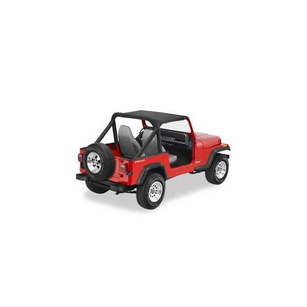 Bikini® Tops noir sans sangle Jeep Wrangler 86-91