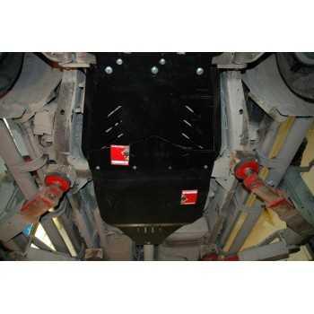 Blindage bv+bt aluminium Nissan Navara D40 et Pathfinder R51 07-2005+