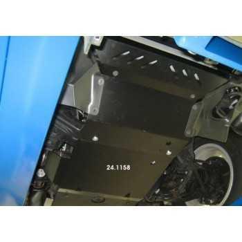 Blindage moteur aluminium Toyota Hilux Vigo 2.5D-4D, 3.0TD 11/2005-2015