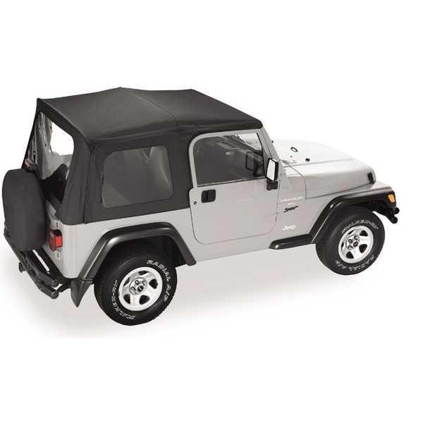 Capotage pavement ends Flip top noir Jeep Wrangler TJ 97-06